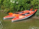 Two kayaks and a pedal boat available