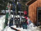 Cross-country skis, snowshoes included