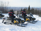 View of the la Montagne noire, direct access to the cottage snowmobile trails