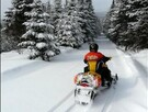 Snowmobile trails accessible directly from the house