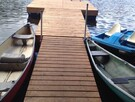 Dock that can be used by renters for swimming or using a Pedalo