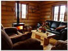 The living room , rustic and comfortable
