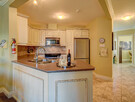 Open concept kitchen - granite and stainless steel