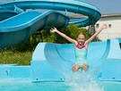 Water slides at Éco-Parc (Wave pool to open summer 2019)