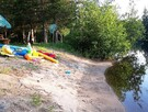 Chalet Amico's beautiful sandy beach with shallow access! perfect for young kids