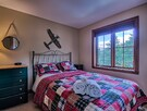 Third bedroom with Queen bed and luxurious linens.