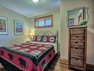 Fourth bedroom with Queen bed and luxurious linens.