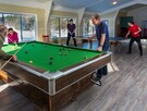 New for 2018: Games room equipped with pool and ping-pong table