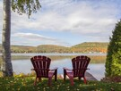 Chairs - View of the lake - Fall