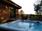 The hot tub with a view on Mont Orford