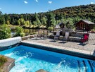 Private outdoor heated pool - Inukshuk cottage