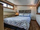 Spacious mezzanine with queen size bed