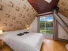Nice room with 1 Queen bed + your private balcony with a view on the lac