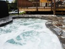 Outdoor spa and terrace
