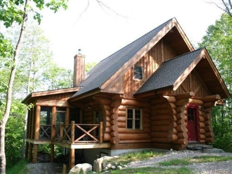Cottage For Rent Log Home In Lac Sup Rieur Laurentians Tremblant Quebec Canada Or 4189